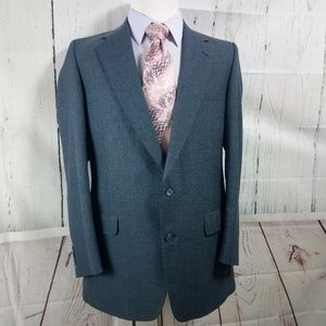 Burberry 41R Suit Blazer Sports Coat Blue